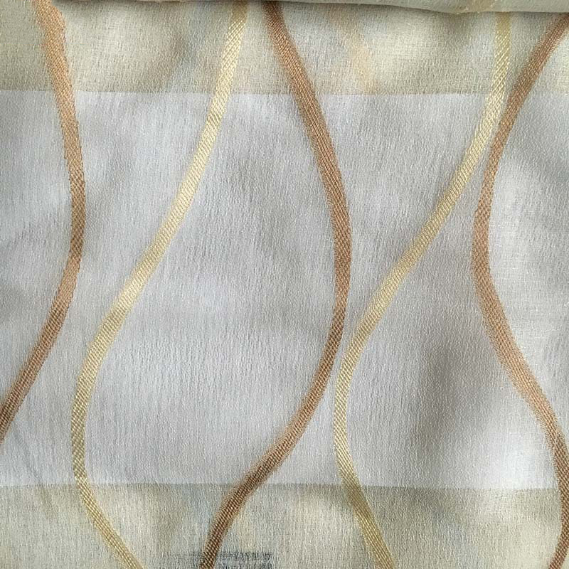Thick Linen Look Semi-Voile Sheer Curtains for Living Room
