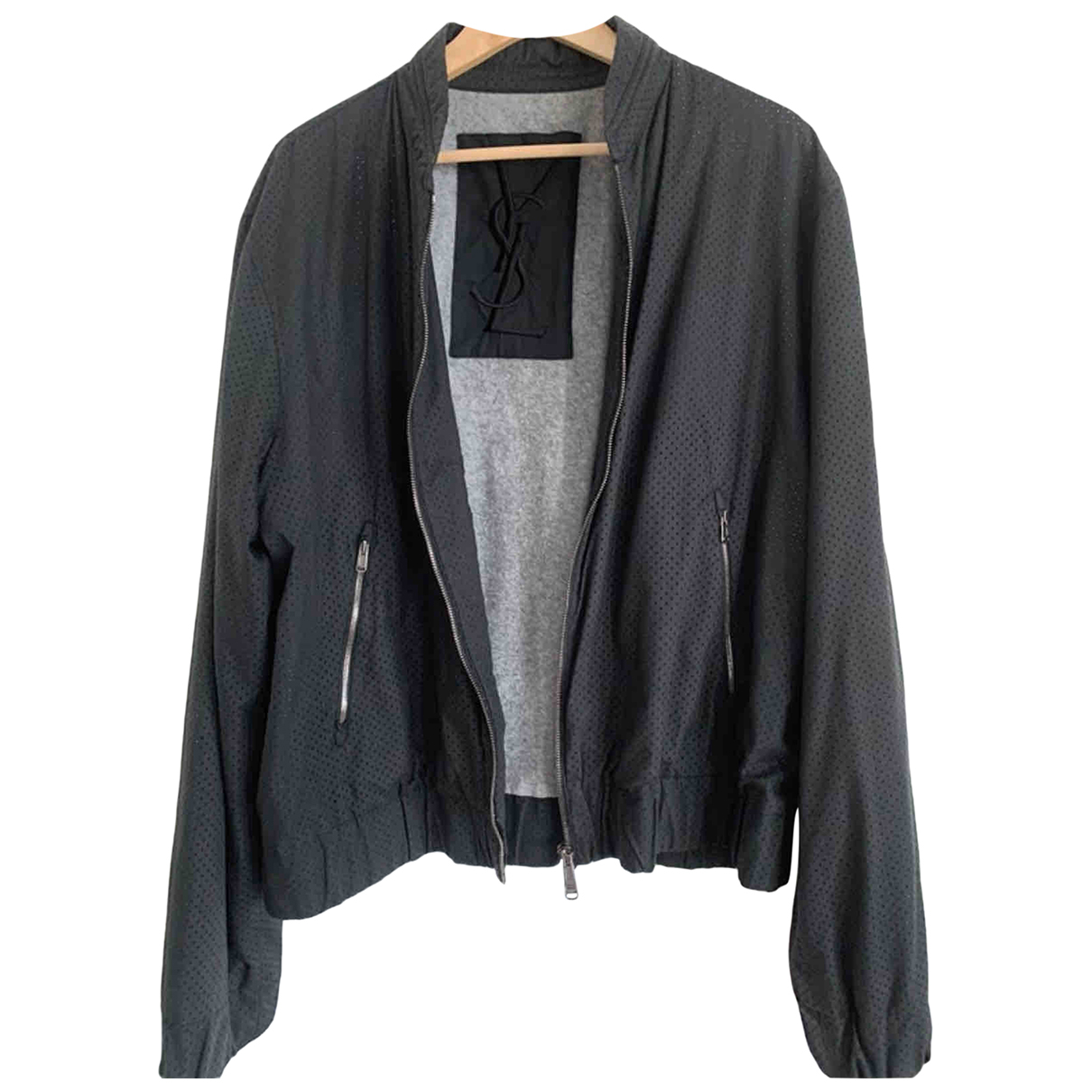 Yves Saint Laurent \N Black Cotton jacket  for Men XL International