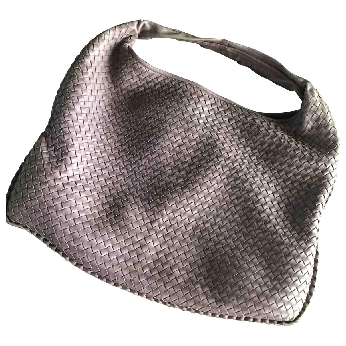Bottega Veneta Veneta Purple Leather handbag for Women \N