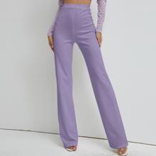 SBtro Hose mit hoher Taille und geradem Beinschnitt