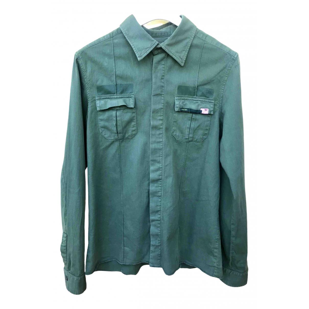 Diesel - Chemises   pour homme en coton - kaki