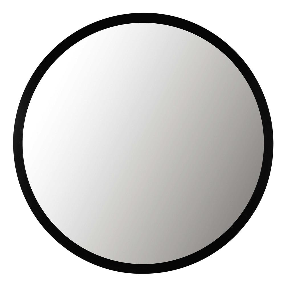 Spiegel mit schwarzem Metallrahmen D.159