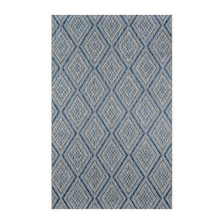 Madcap Cottage By Momeni Lake Palace Rectangular Indoor/Outdoor Rugs, One Size , Blue