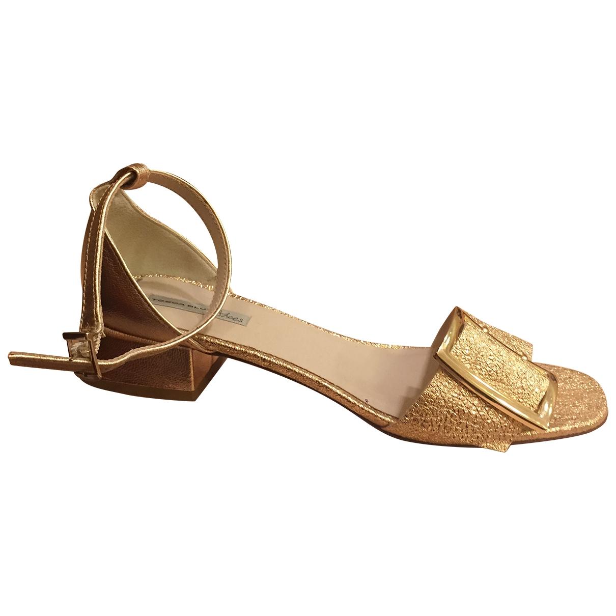 - Sandales   pour femme - metallise