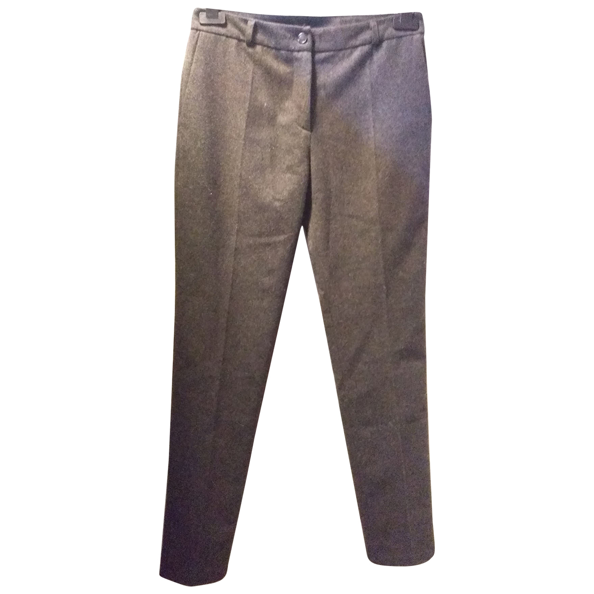 American Vintage N Anthracite Wool Trousers for Women S International