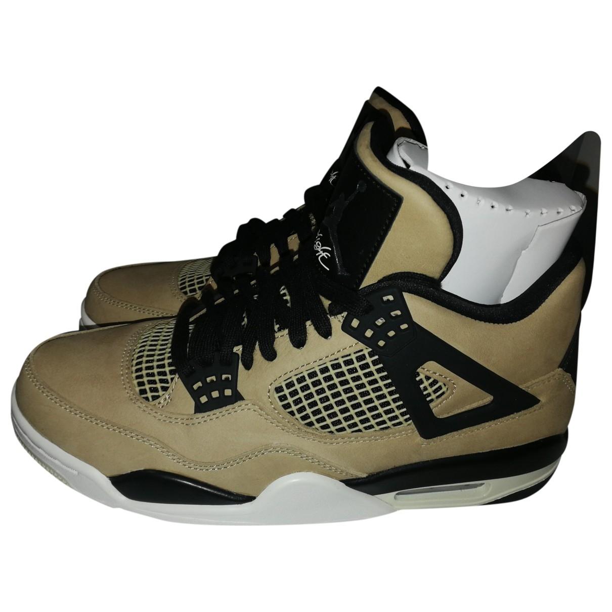 Deportivas Air Jordan 4 de Cuero Jordan