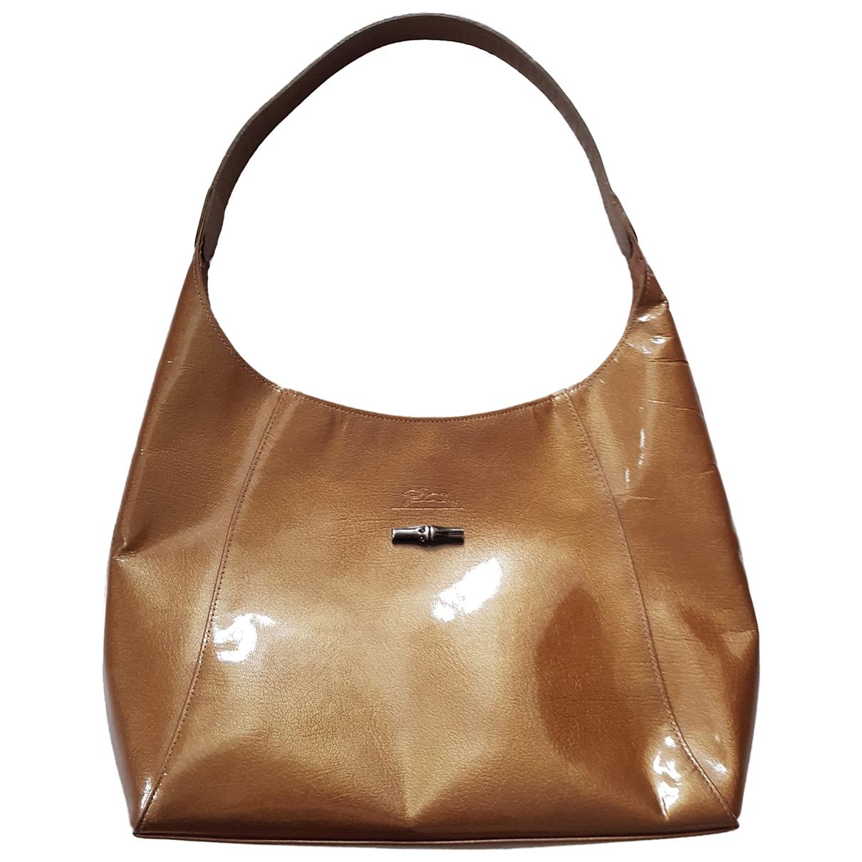 Longchamp \N Handtasche in  Gold Lackleder