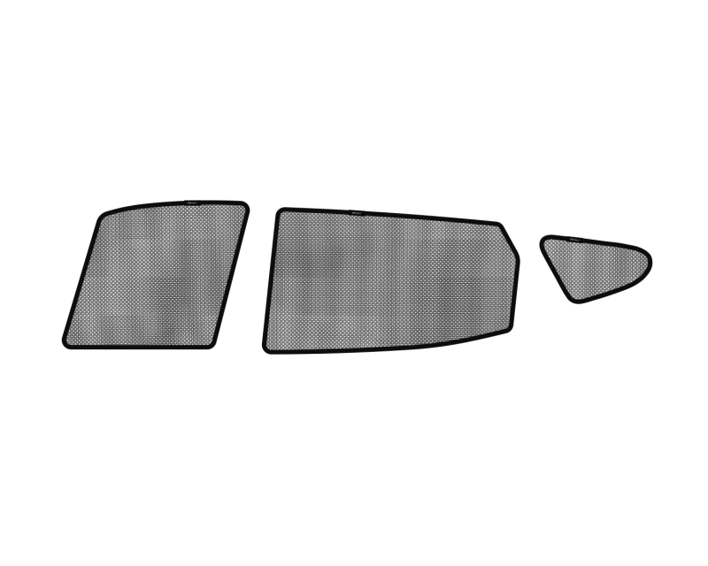 3D MAXpider 2013-2018 Hyundai Santa Fe Black Sun Shades - Side Windows