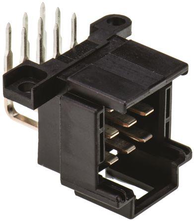 TE Connectivity , Timer, 9 Way, 3 Row, Right Angle PCB Header
