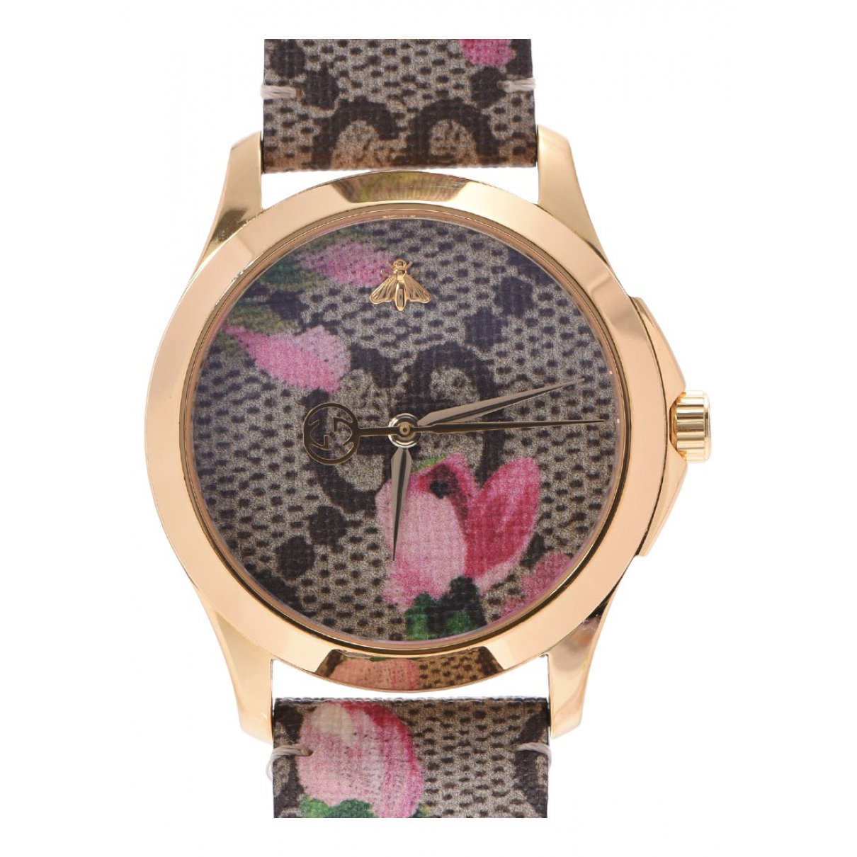 Gucci G-Timeless Gold Gold plated watch for Women N