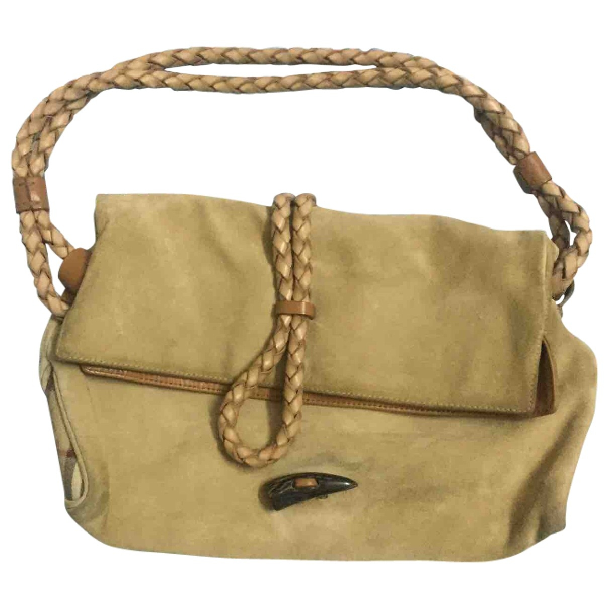 Burberry \N Handtasche in  Beige Leinen
