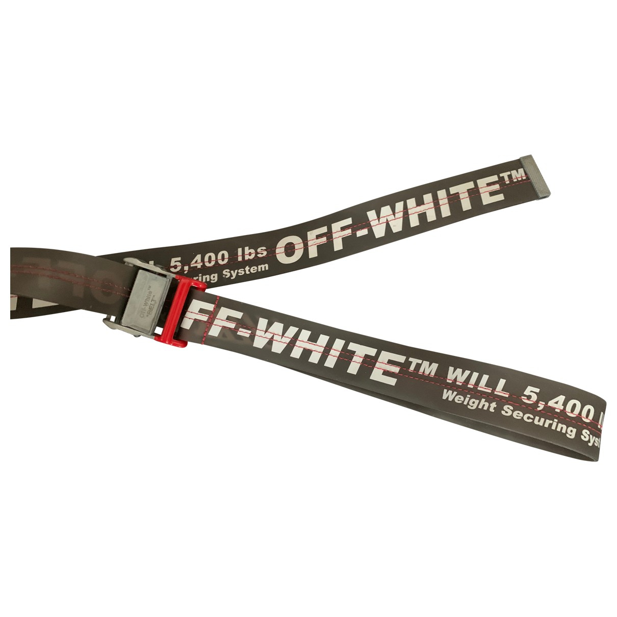 Off-white \N Guertel in  Grau Leinen
