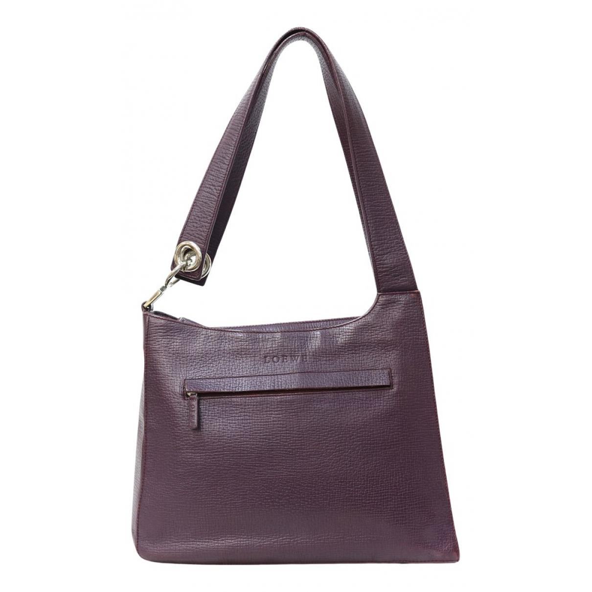 Loewe \N Purple Leather handbag for Women \N