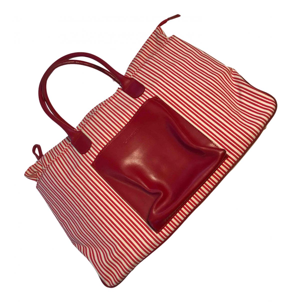 Lancel - Sac de voyage   pour femme en toile - rouge