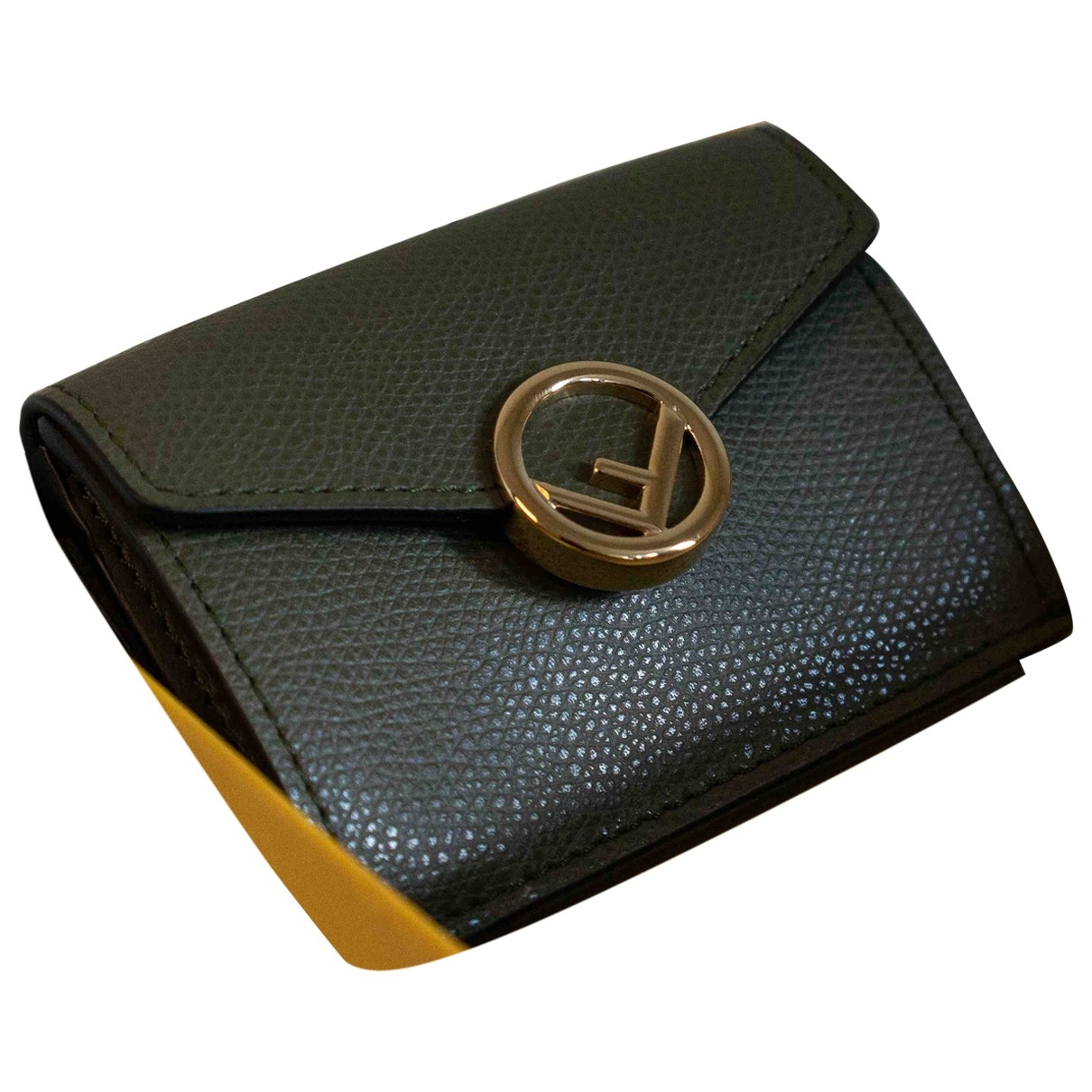 Fendi \N Portemonnaie in  Gruen Leder