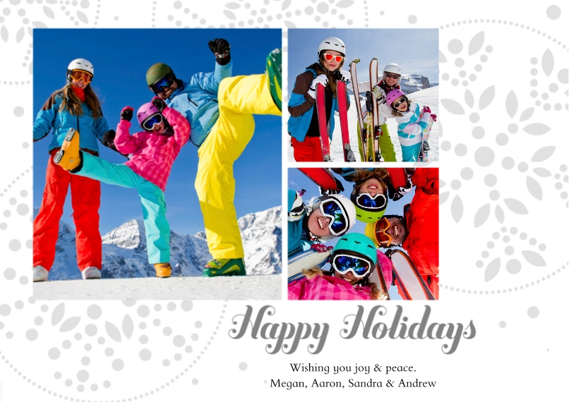 Holiday Photo Cards 5x7 Cards, Premium Cardstock 120lb, Card & Stationery -Happy Holidays