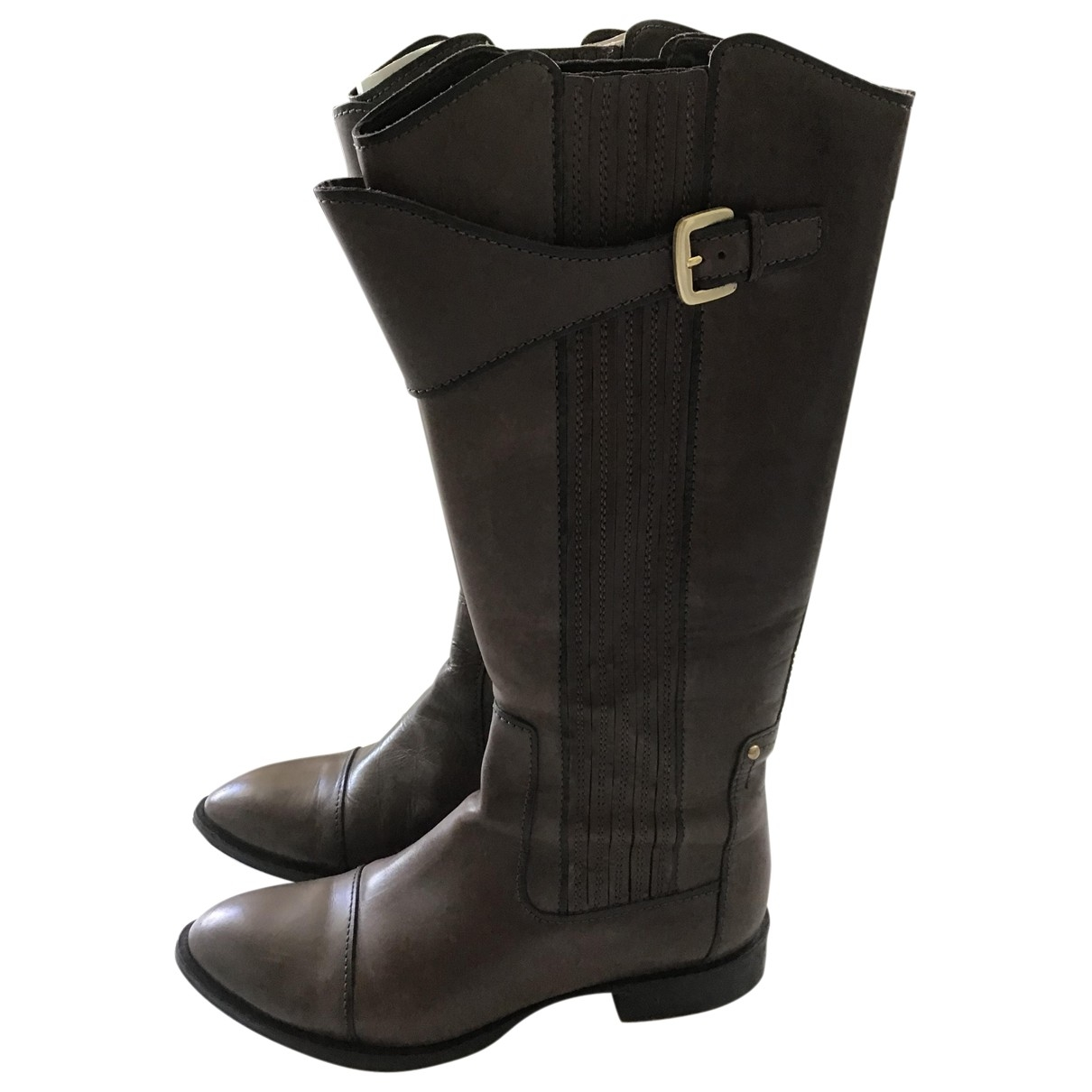 Hugo Boss \N Brown Leather Boots for Women 40 EU
