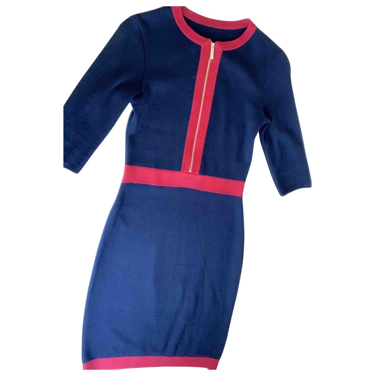 Carolina Herrera - Robe   pour femme en laine - bleu