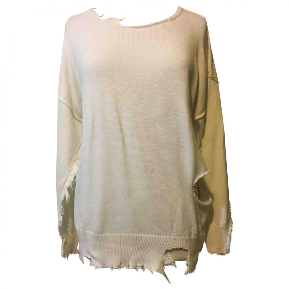 Iro - Pull   pour femme en coton - blanc