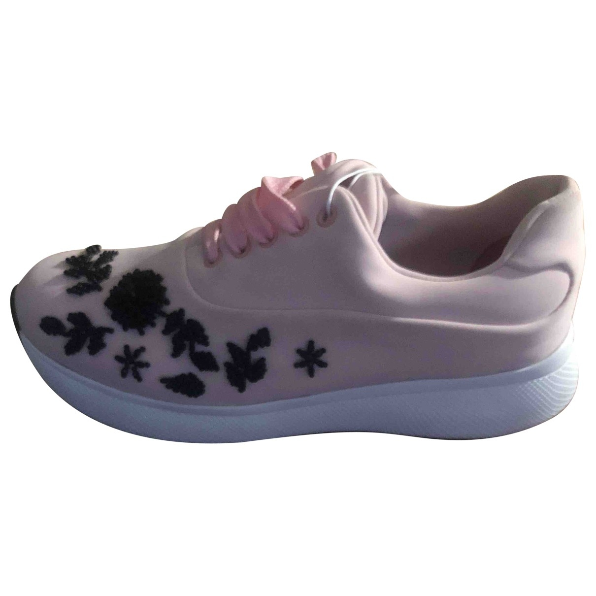 Prada \N Pink Cloth Trainers for Women 37.5 EU