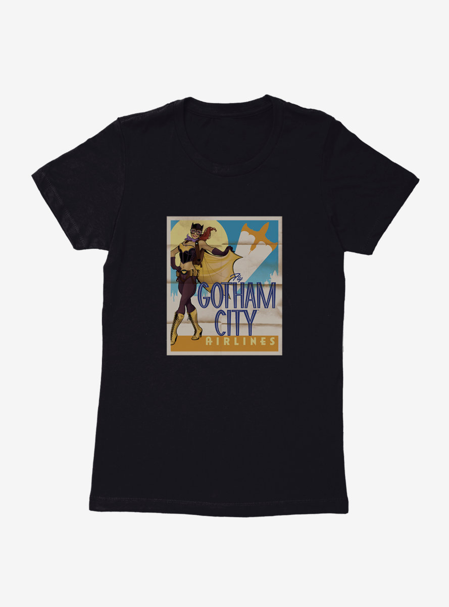 DC Comics Bombshells Batgirl Gotham City Airlines Womens T-Shirt