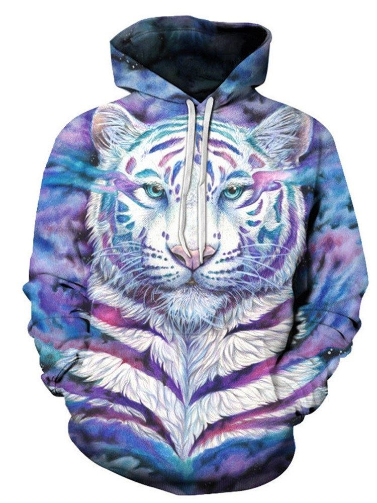 Men's 3D Graphic Hoodie Novelty Long Sleeve Pullover Sweatshirt Jackets with Pockets
