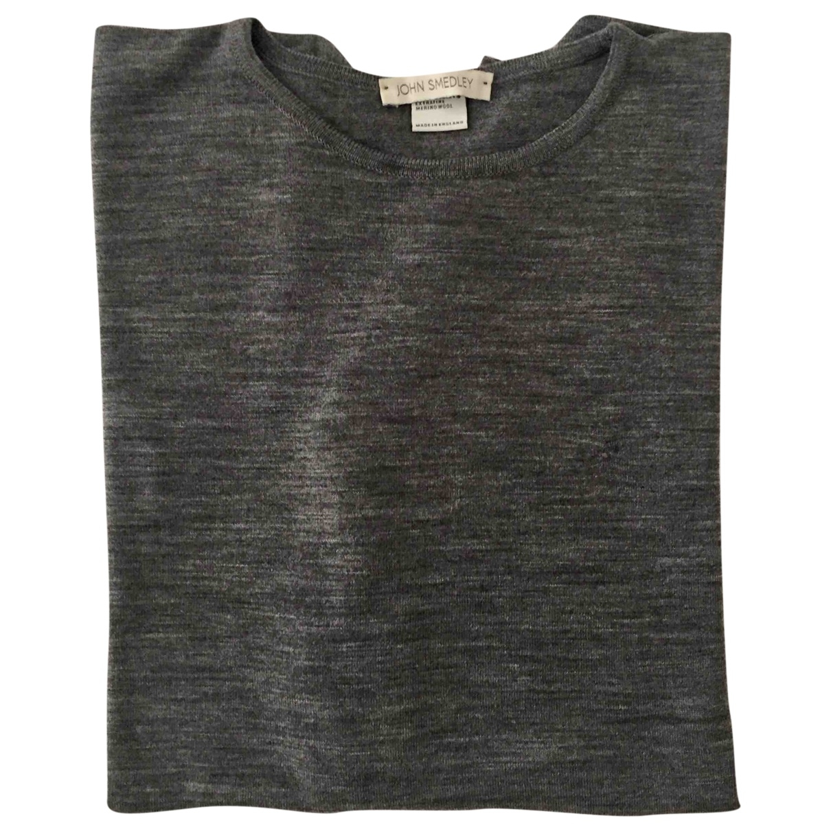 John Smedley \N Pullover.Westen.Sweatshirts  in  Grau Wolle