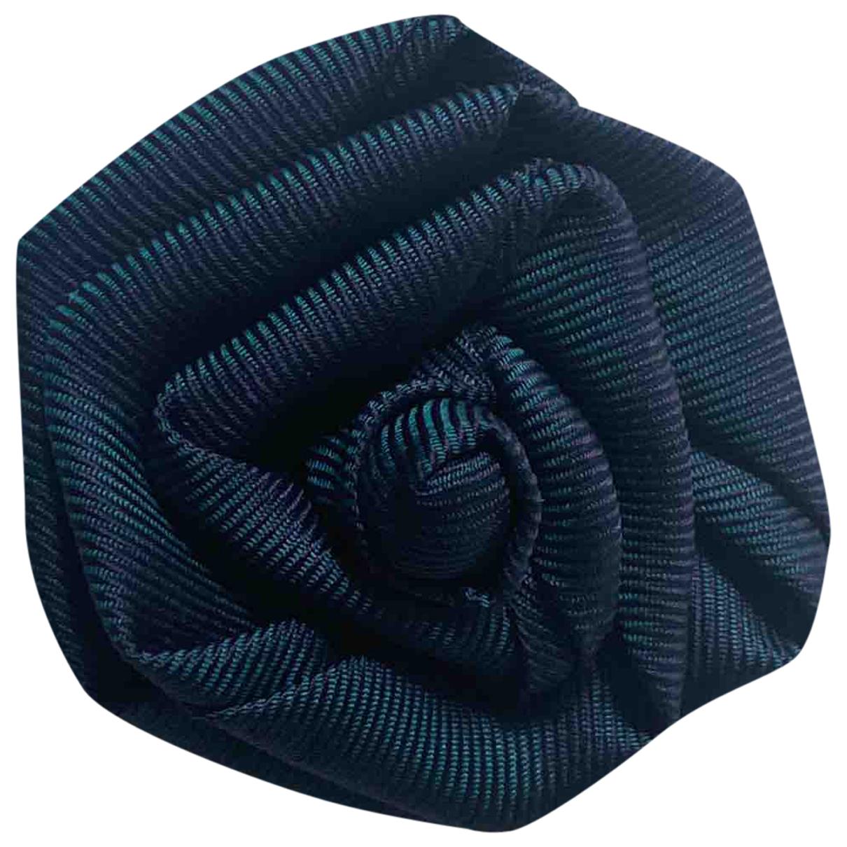 Charvet \N Manschettenknopfe in  Blau Baumwolle