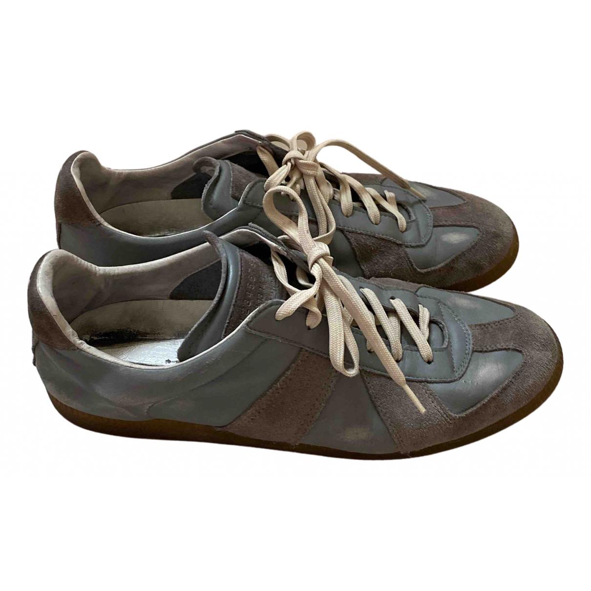 Maison Martin Margiela Replica Sneakers in  Grau Leder