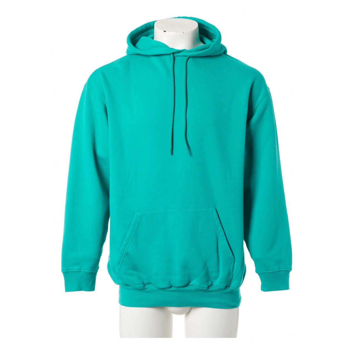 Balenciaga \N Pullover.Westen.Sweatshirts  in  Tuerkis Baumwolle