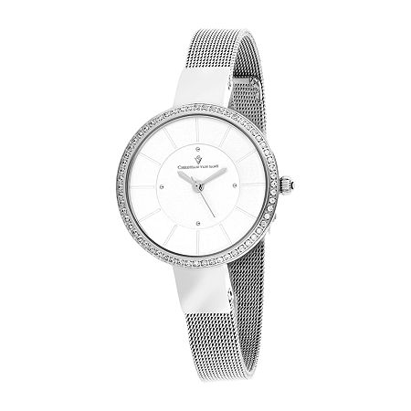 Christian Van Sant Womens Stainless Steel Bracelet Watch-Cv0220, One Size , No Color Family