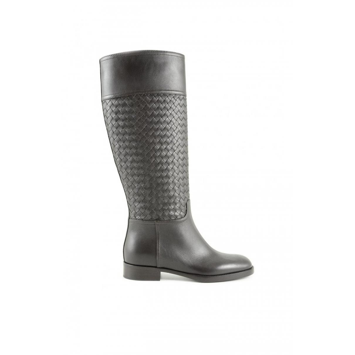Bottega Veneta \N Black Leather Boots for Women 39 EU