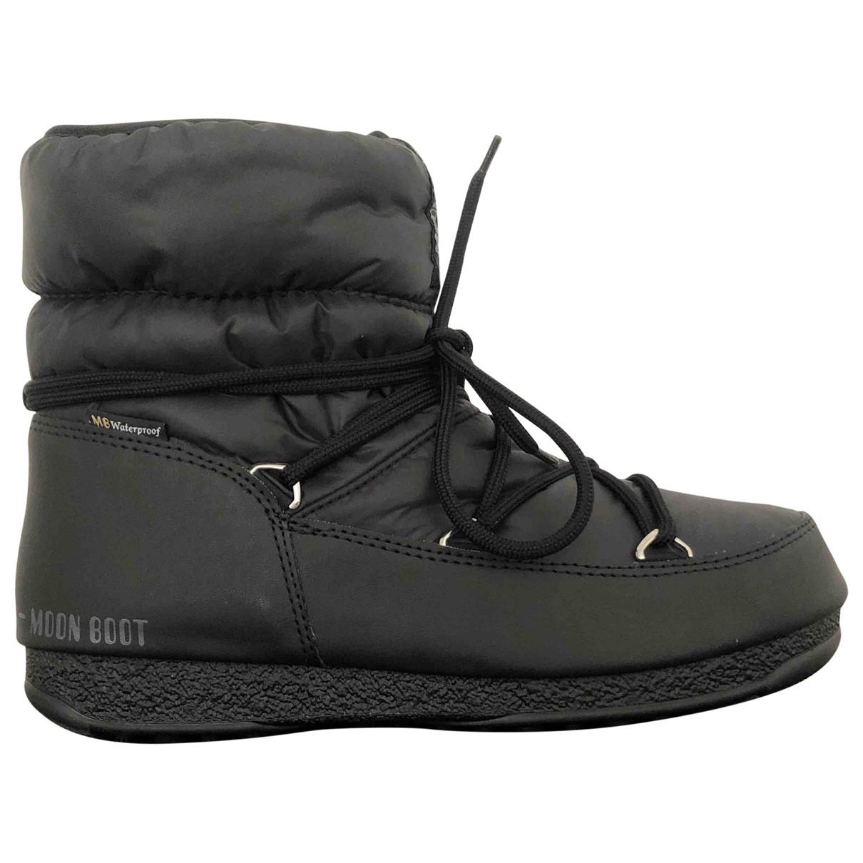 Moon Boot \N Stiefel in  Schwarz Polyester