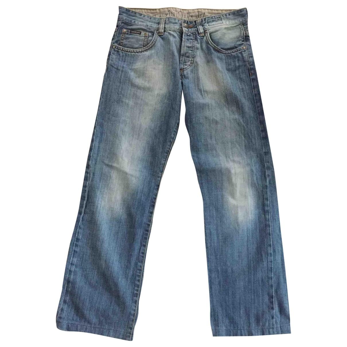 Calvin Klein \N Blue Cotton Jeans for Men 29 US