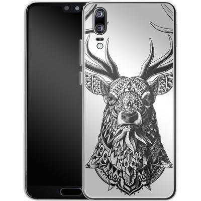 Huawei P20 Silikon Handyhuelle - Ornate Buck von BIOWORKZ