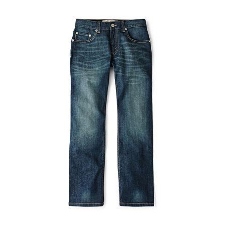Levi's Big Boys 505 Straight Regular Fit Jean, 16 , Blue