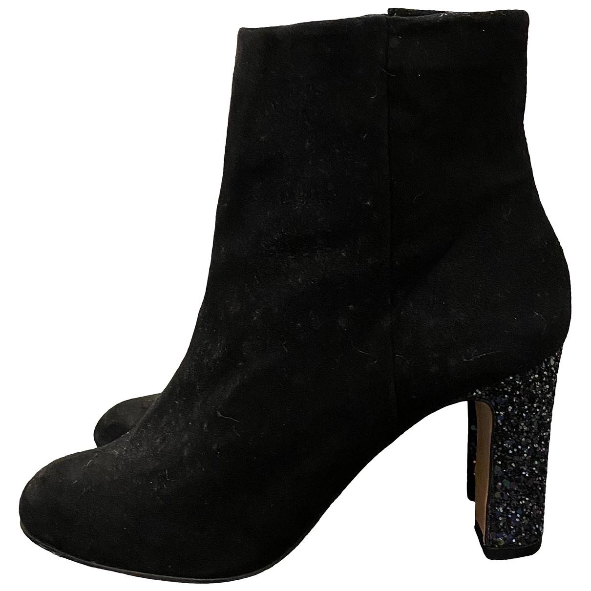 Mellow Yellow - Boots   pour femme en suede - noir