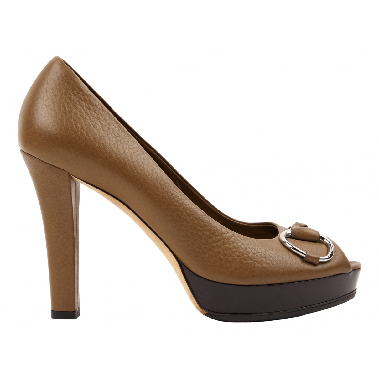 Gucci \N Pumps in  Braun Leder