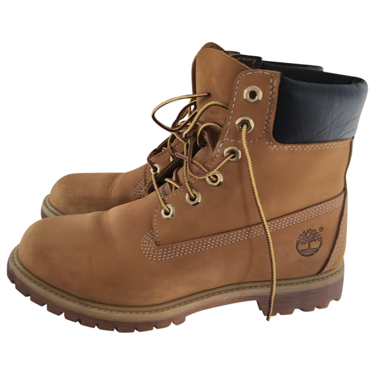 Timberland \N Beige Leather Boots for Women 8.5 US