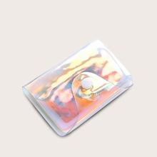 Bolsillo de tarjeta con solapa holografico