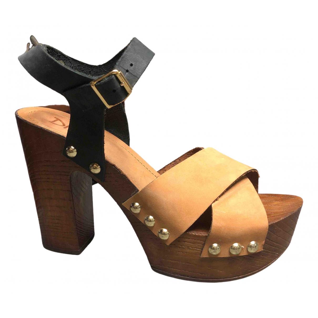 Dixie - Sandales   pour femme en cuir - multicolore