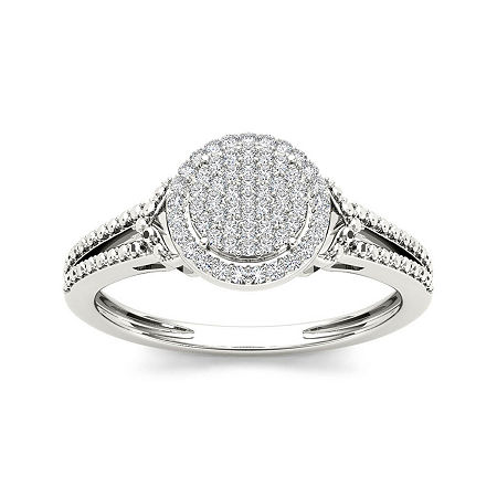 1/6 CT. T.W. Diamond 10K White Gold Engagement Ring, 7 1/2 , No Color Family