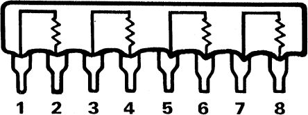 Bourns Isolated Resistor Network 470Ω ±2% 4 Resistors, 1W Total, SIP package 4600X Through Hole (25)