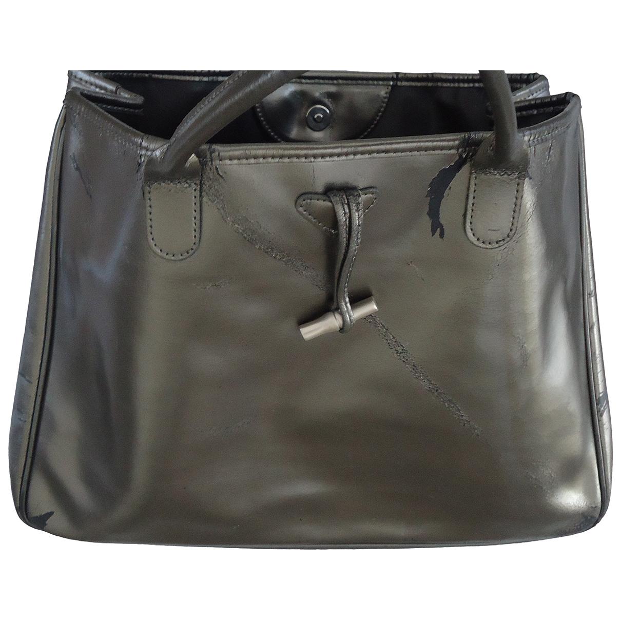 Longchamp - Sac a main Roseau pour femme en metal - argente