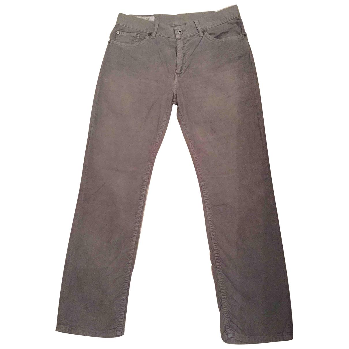 Dondup \N Khaki Velvet Trousers for Women 38 FR