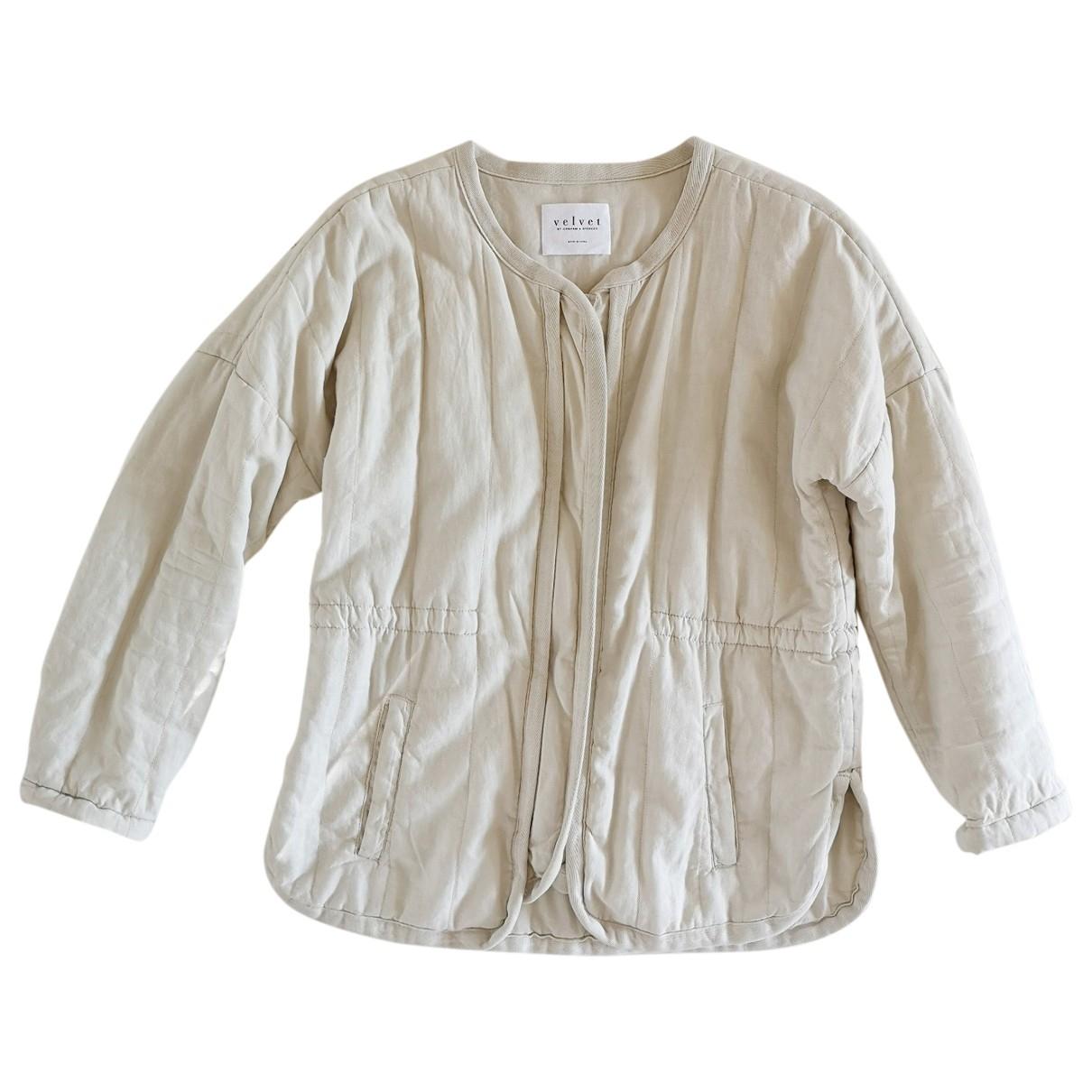 Velvet - Veste   pour femme en coton - ecru