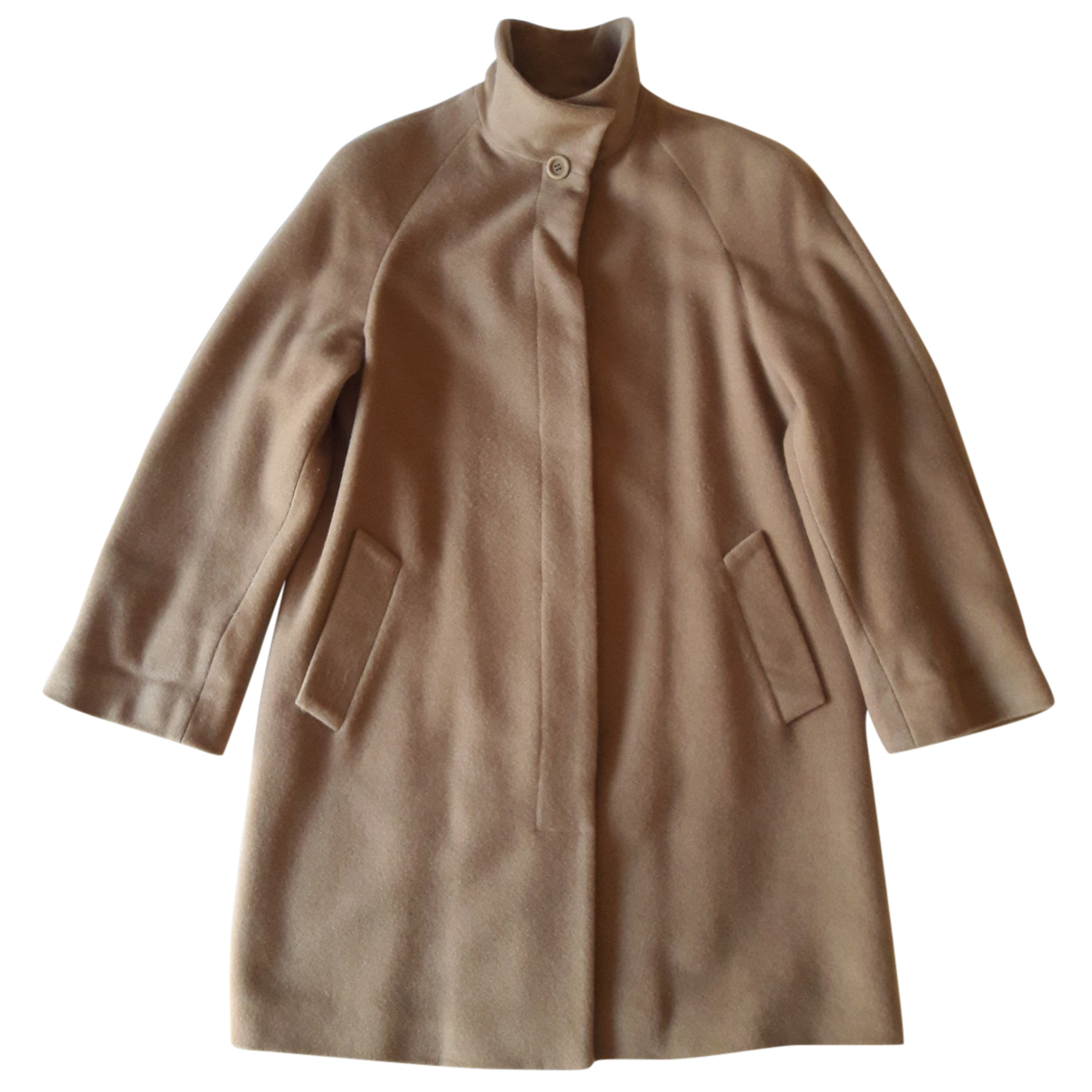 Non Signé / Unsigned N Camel Wool coat for Women 42 IT