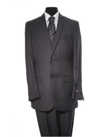 Mens Black 2 Button 2 Piece Suit