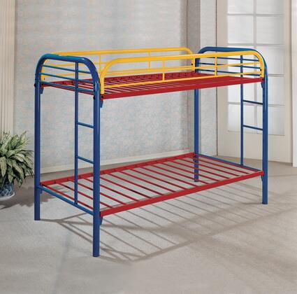 Sade Collection Twin Over Twin Size Bunk Bed with 2