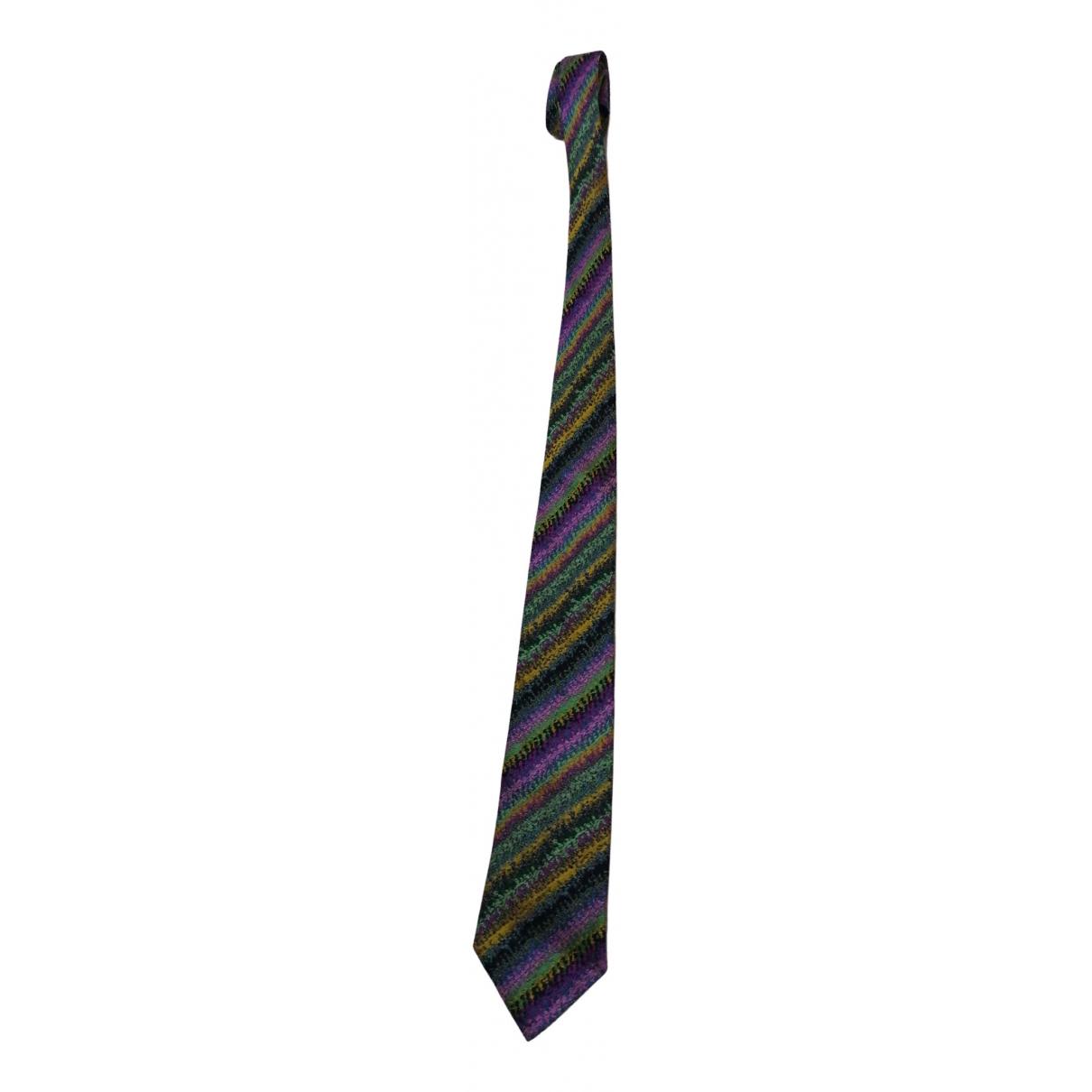 Missoni - Cravates   pour homme en soie - multicolore